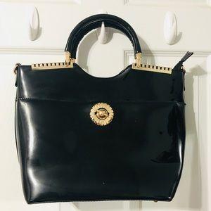 Handbags - EUC Shiny Structured bag (no brand!)